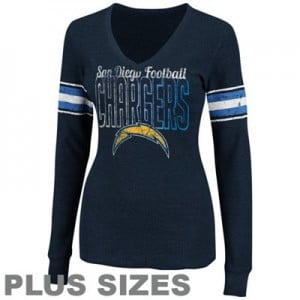 Women's Plus Size San Diego Chargers Short and Long Sleeve T-Shirts (Hoodies and Jackets Too