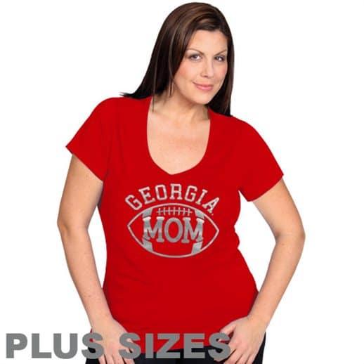 Womens georgia bulldog xxl 1x 3x 4x hoody t shirt gt for Womens golf shirts xxl