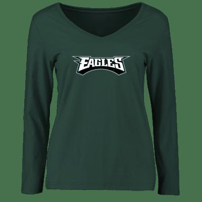 Womens philadelphia eagles tee hoodie jersey 2x 3x 3xl for Eagles t shirt womens